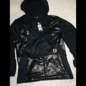 Under Armour Black/Gold Full Zip Hoodie Men's XL